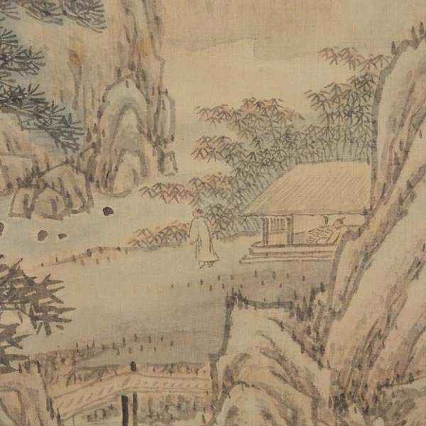 8440: Attributed to Ji WoonYoung (1852-1935): Landscape - 5