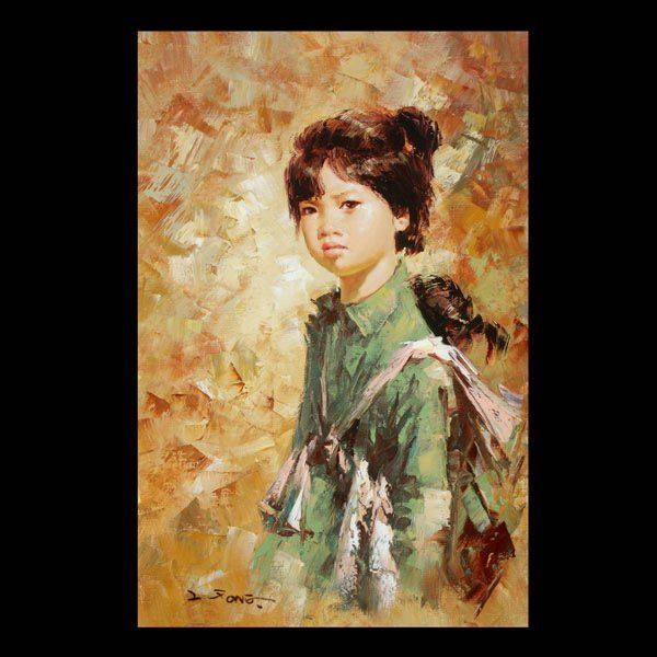 4: Lee Man Fong, Portrait of a Girl, Oil