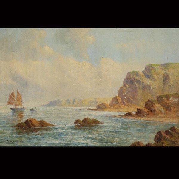 """76: J.W. WESTBROOK    """"Coastal Scene"""""""