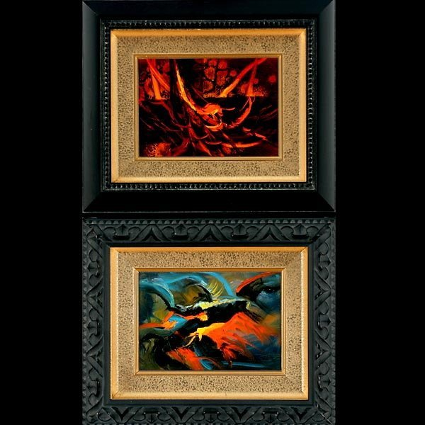 """96: HEINIE HARTWIG   Two works: """"Abstract"""""""