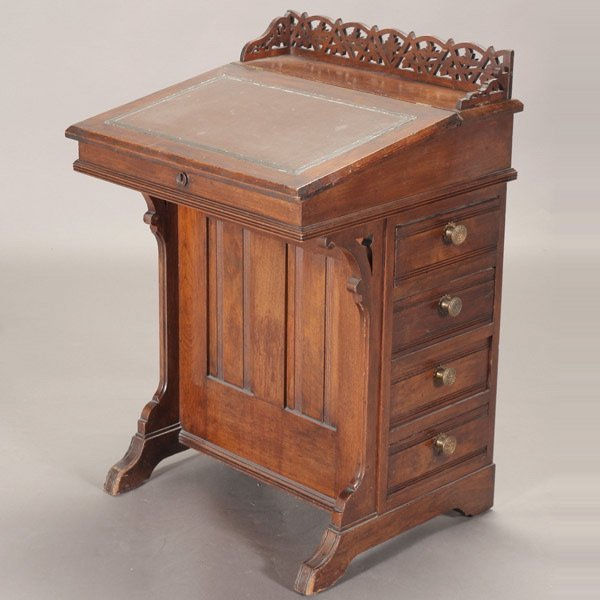 510: Victorian Walnut Davenport, 19th Century