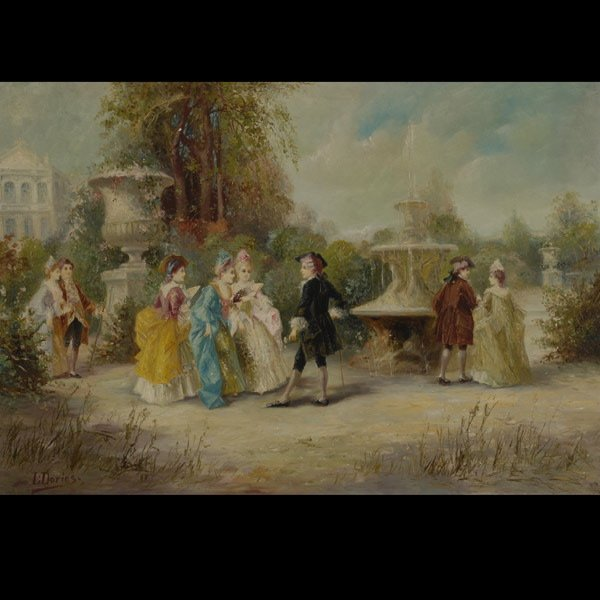 "8: L. DORIES   ""In the Park of Versailles"""