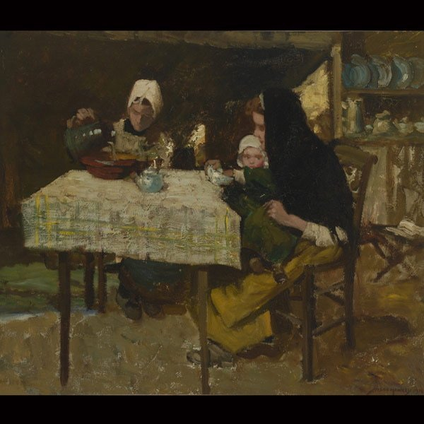 "9: W. HANNEY    ""Family Sitting Around the Table"""