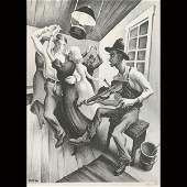 "THOMAS HART BENTON  ""I Got a Gal on Sourwood"""