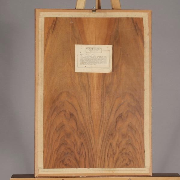 820: German Wood Inlay Plaque of Neuschwanstein Castle - 5