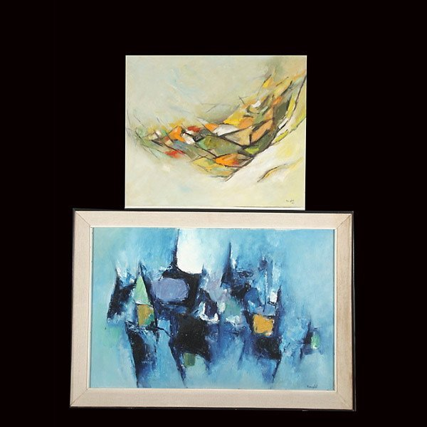 """14: LAIN BANGDEL Two works: """"Composition I & II"""""""