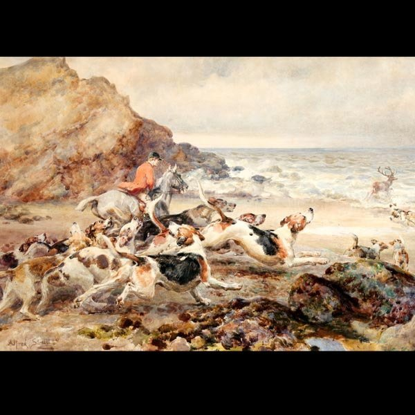 """22: ALFRED WILLIAM STRUTT """"Down to the Sea at Watchet"""""""