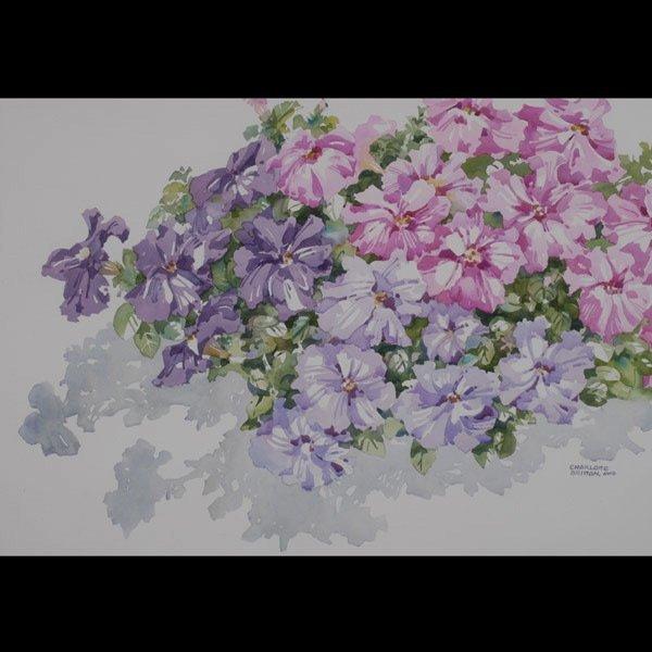 137: CHARLOTTE BRITTON  Two Watercolors