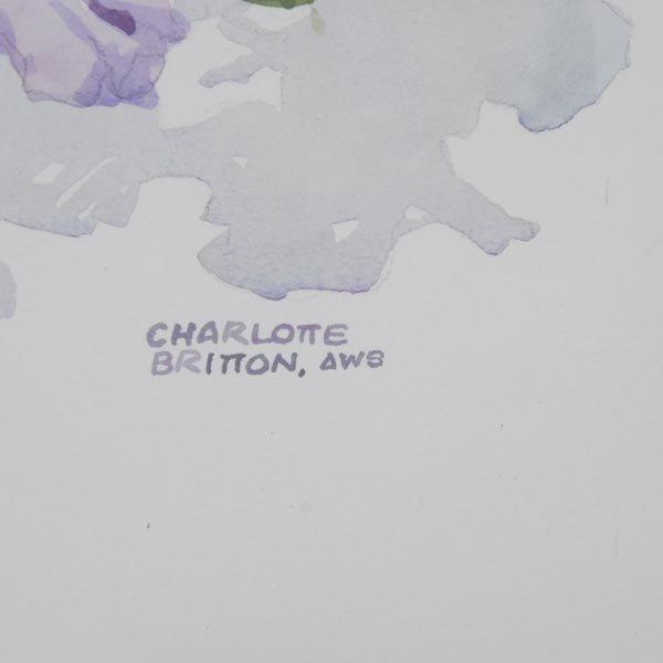 137: CHARLOTTE BRITTON  Two Watercolors - 4