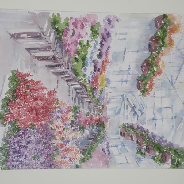 137: CHARLOTTE BRITTON  Two Watercolors - 5