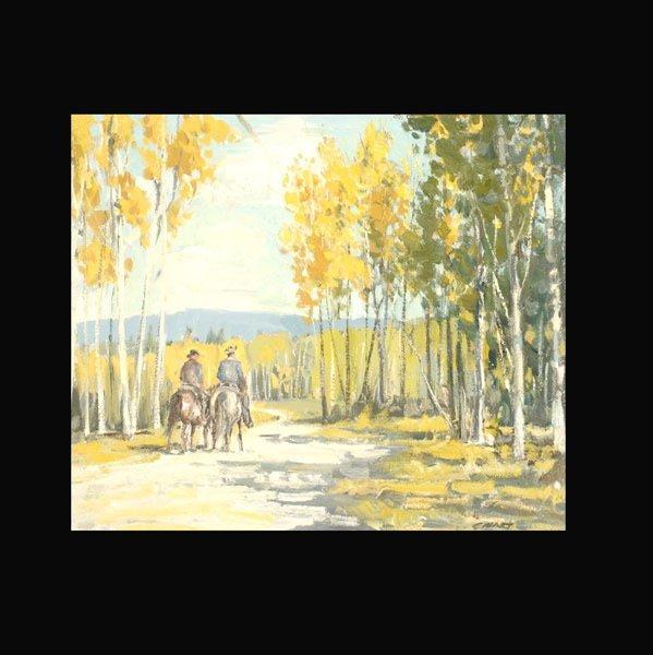 "1: PETER EWART  ""Lake la Hache, British Columbia"""
