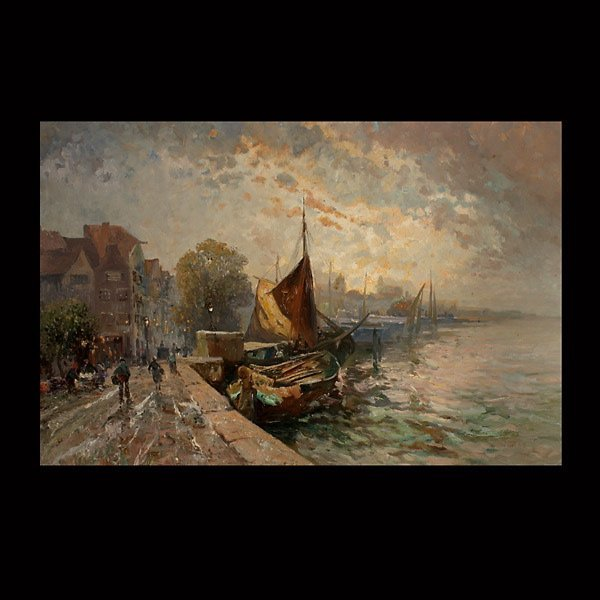 """4: F.R. LEBLANC, """"A Day in the Harbor"""""""