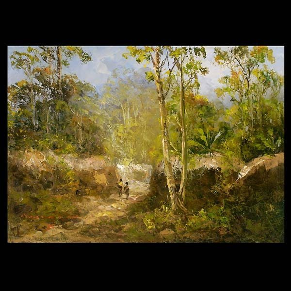 """11: Attributed to MOZES MISDY  """"Entering the Village"""""""