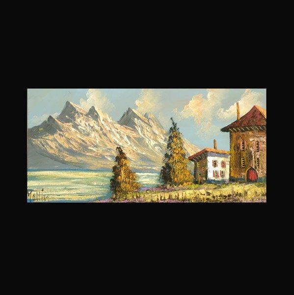 """12: KARL MOLLIN    """"Mountain Landscape"""""""
