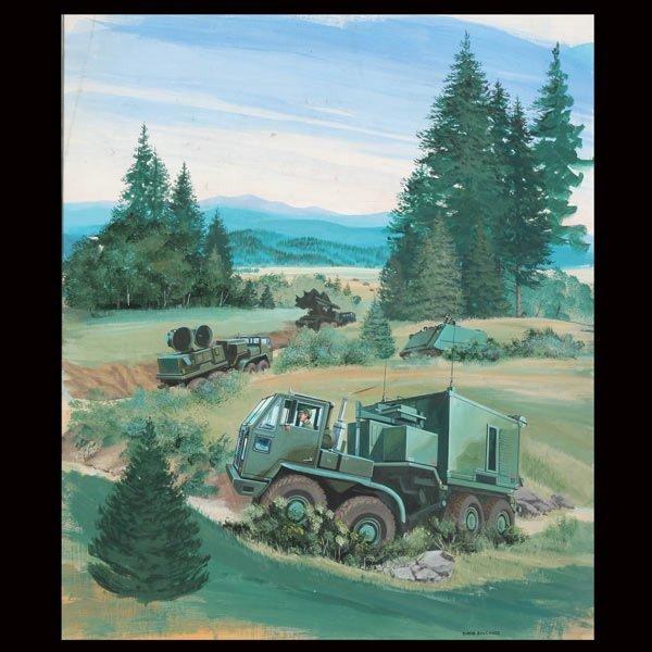 """17: DAVID ROWLANDS   """"Military Caravan Moving In"""""""