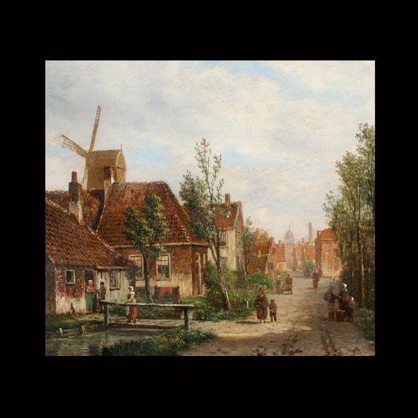"""18: Attributed to OENE ROMKES DE JONGH """"Village Road"""""""