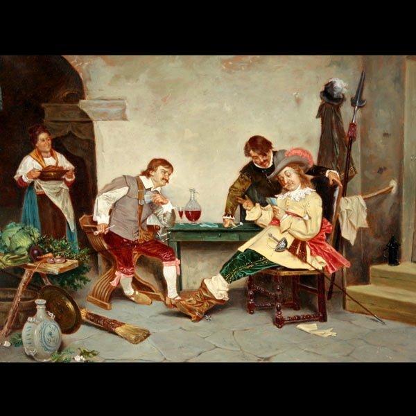 """23: TITO CONTI    """"The Card Players, 1879"""""""