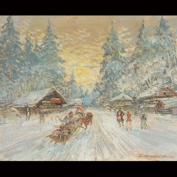 """24: Circle of CONSTANTIN KOROVINE  """"A Winter's Eve"""""""