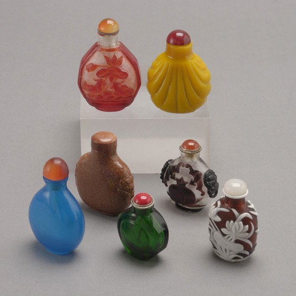 522: A Group of Seven Glass Snuff Bottles