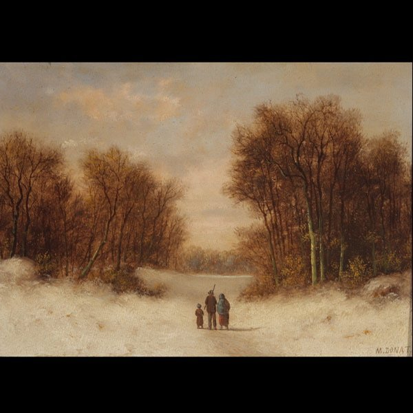 "10: M. DONAT   ""A Winter Evening in Holland"" Oil"