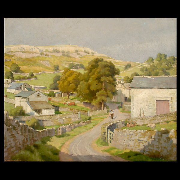 """17: CHARLES BURLEIGH  """"Sunny Day in the Village"""""""