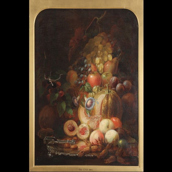 "22: GEORGE COLE ""Still Life w/Fruit"""