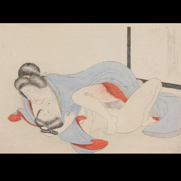 631: Anonymous: A Japanese Album of 12 Erotica Painting