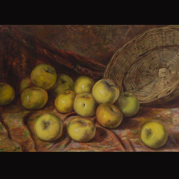 "3: Italian School ""Basket of Apples"""