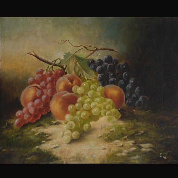 """5: Continental School  """"Still Life of Fruit, 1900"""""""