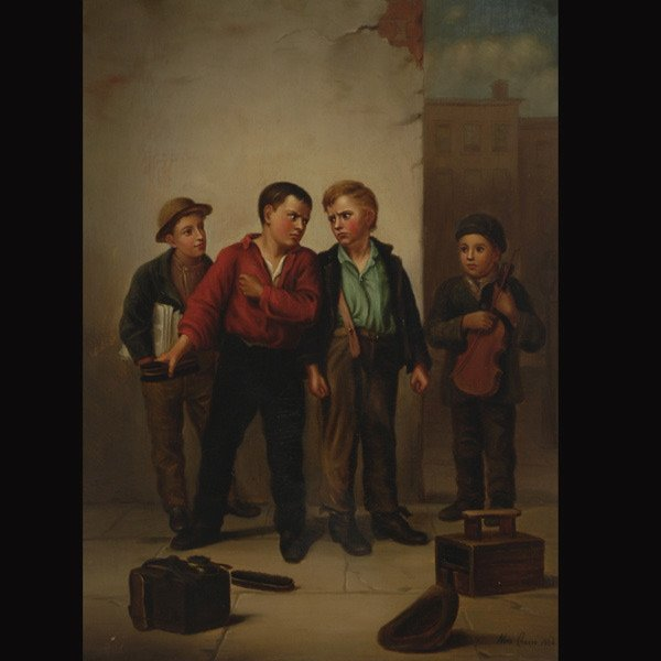 "7: NORA CHAESE   ""Shoe Shiners, 1884"""