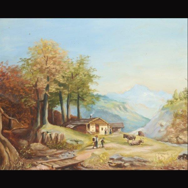 """18: VIVIAN C. """"Swiss Landscape, 1974"""""""