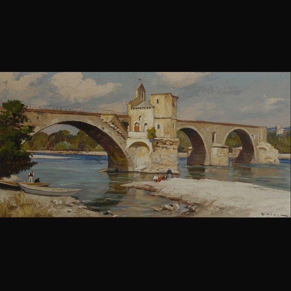 """21: GUSTAVE VIDAL   """"Bridge in Avignon"""""""