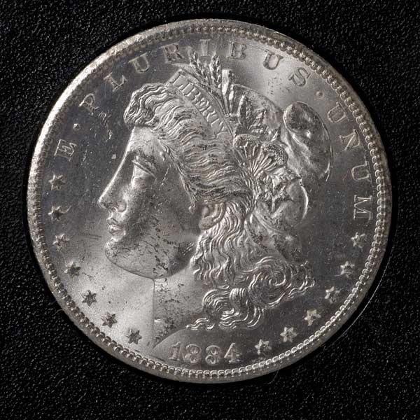 526: US 1884 CC Uncirculated Morgan Dollar