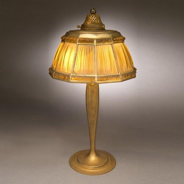 4: Tiffany Studios Linen fold Table Lamp