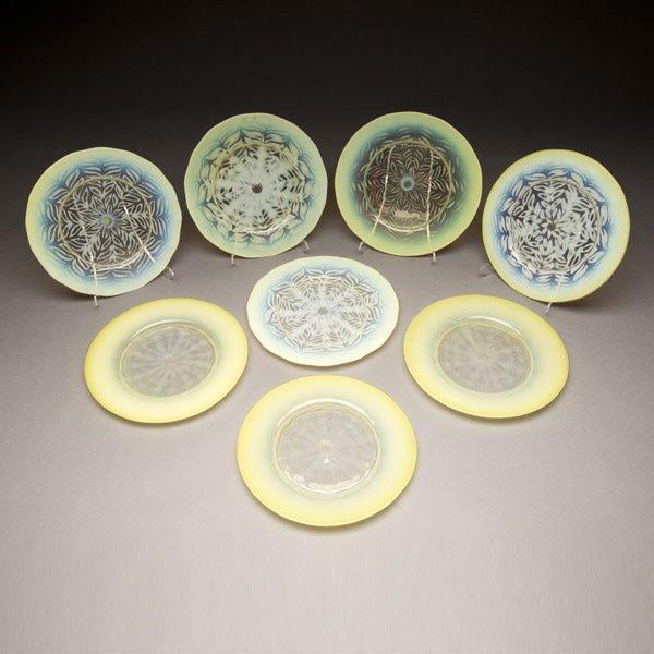 5: Set of Eight Tiffany Studios Dessert Plates