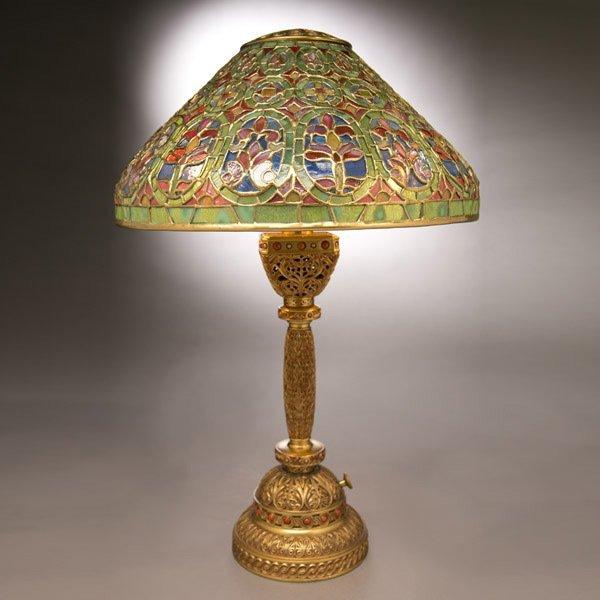 6: Tiffany Studios Venetian/ Ninth Century Table Lamp
