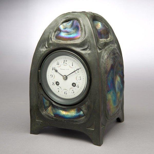 9: Tiffany Studios Turtle Back Tile Clock