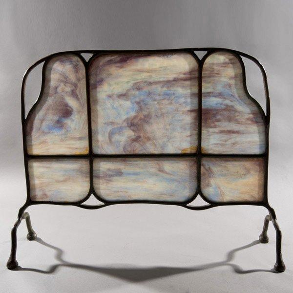 13: Tiffany Studios Organic Form Fire Screen