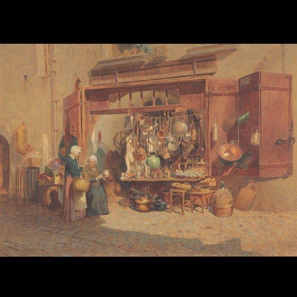 18: Louis Comfort Tiffany The Village Peddler