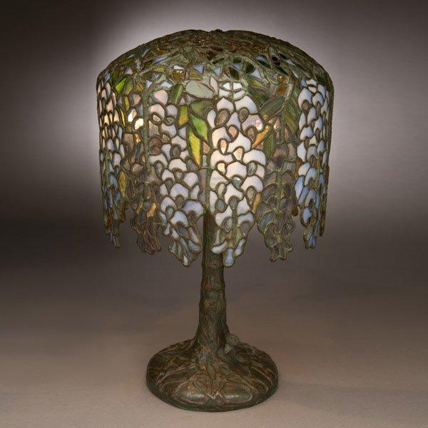 48: Tiffany Studios Pony Wisteria Table Lamp