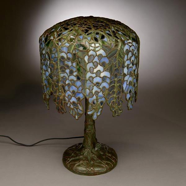 48: Tiffany Studios Pony Wisteria Table Lamp - 2