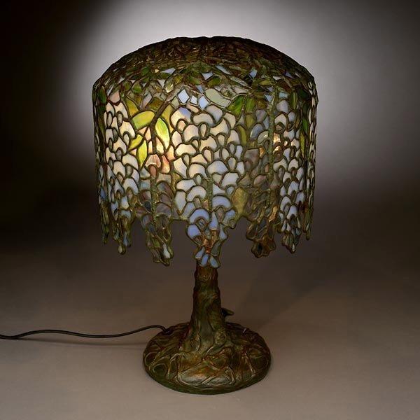 48: Tiffany Studios Pony Wisteria Table Lamp - 3