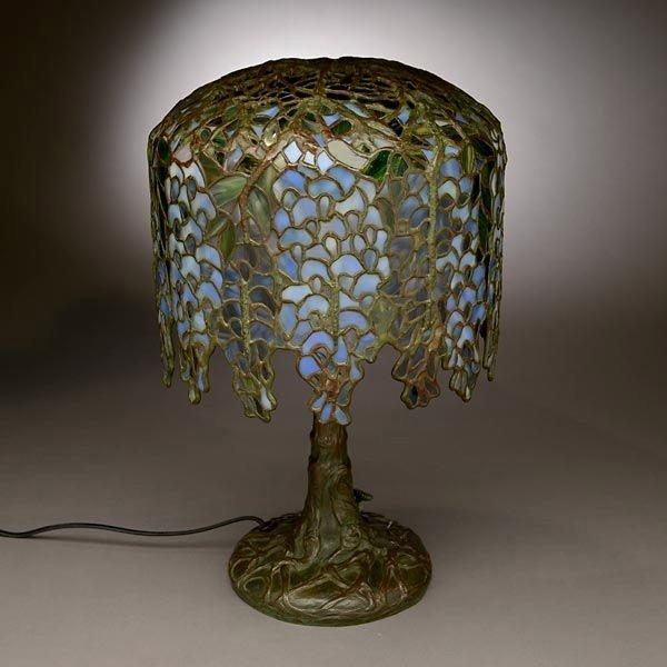 48: Tiffany Studios Pony Wisteria Table Lamp - 4