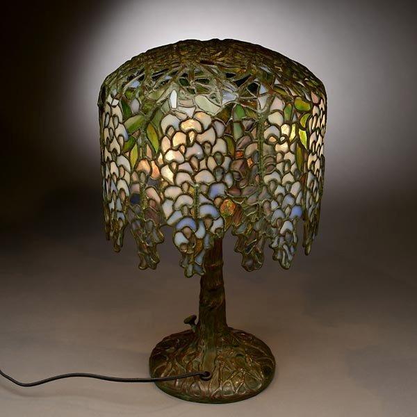 48: Tiffany Studios Pony Wisteria Table Lamp - 5
