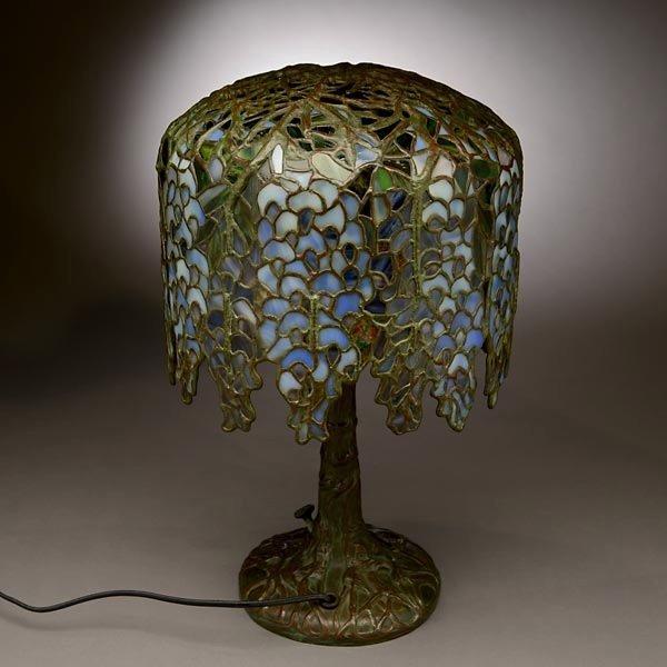 48: Tiffany Studios Pony Wisteria Table Lamp - 6