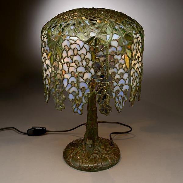 48: Tiffany Studios Pony Wisteria Table Lamp - 7