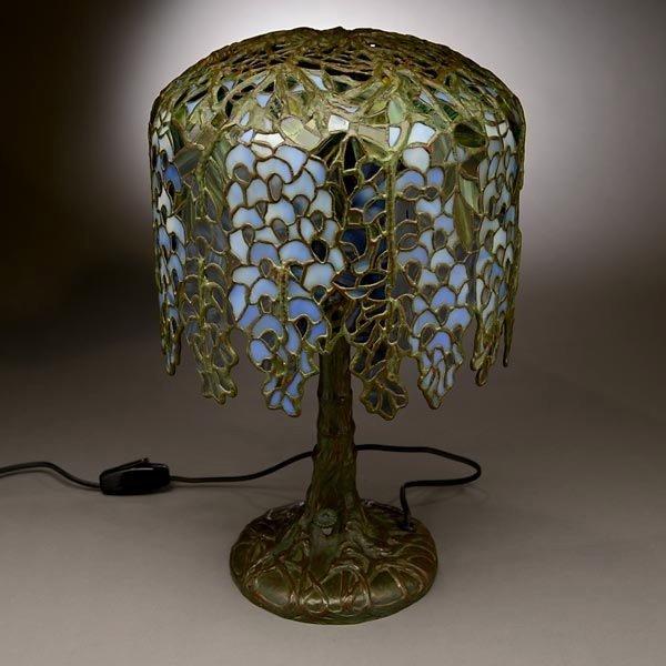 48: Tiffany Studios Pony Wisteria Table Lamp - 8