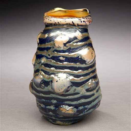 56 Tiffany Studios Pebbled Lava Vase