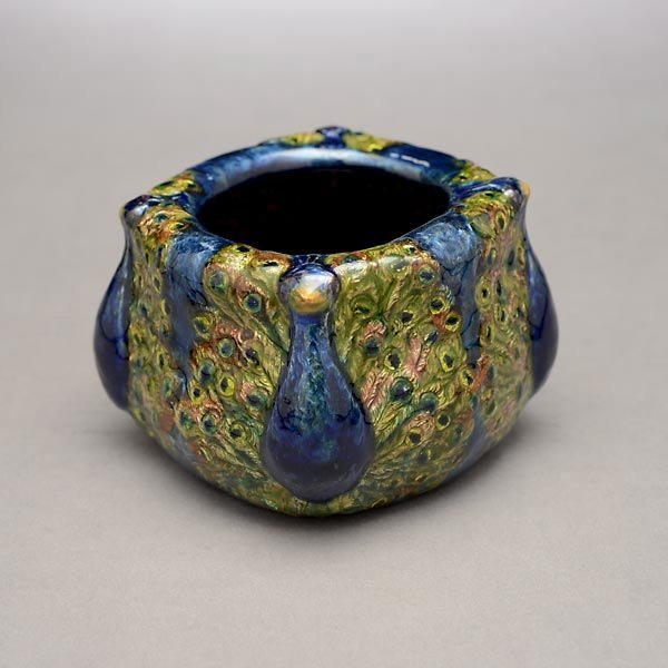 67: Tiffany Studios Peacock Bowl - 3