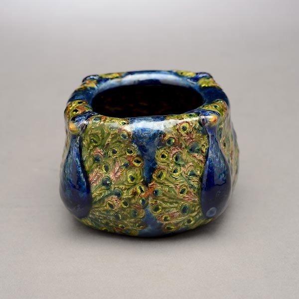 67: Tiffany Studios Peacock Bowl - 4